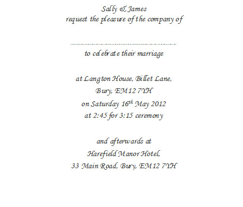 wedding invitation wording wedding invitation wording With wording for wedding invitations from bride and groom uk