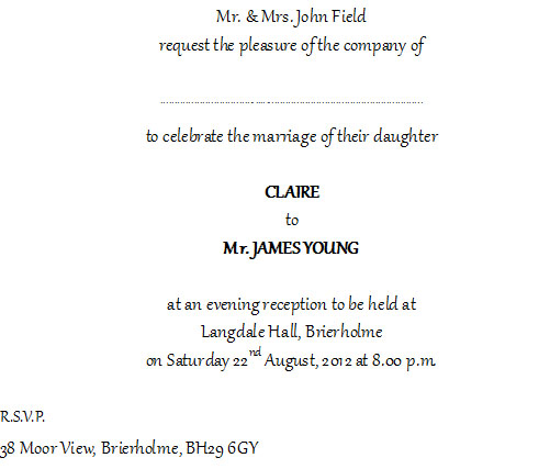 Informal Wedding Invites with awesome invitations layout